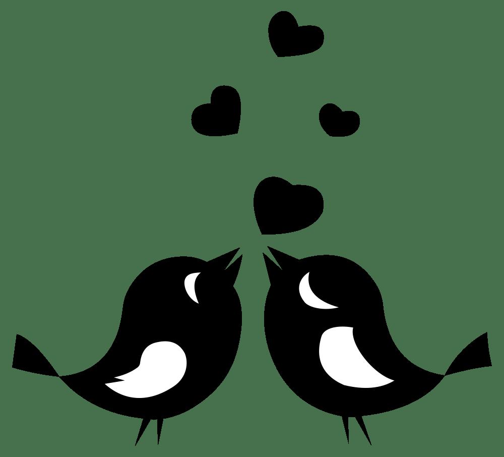 Download OnlineLabels Clip Art - Love Birds With Hearts