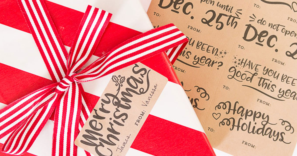 Diy Christmas Gift Tag Label Printables Onlinelabels Com