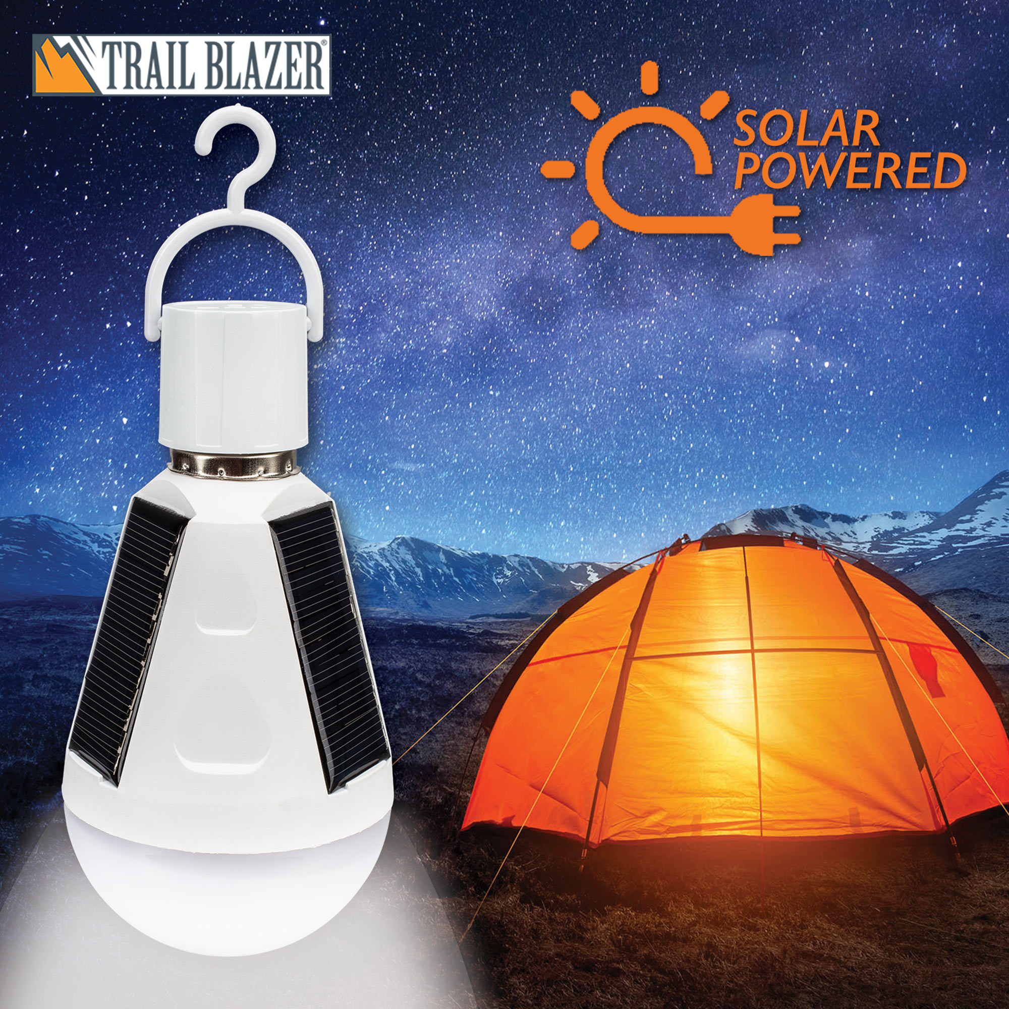Trailblazer Led Solar Emergency Hanging Light Bulb