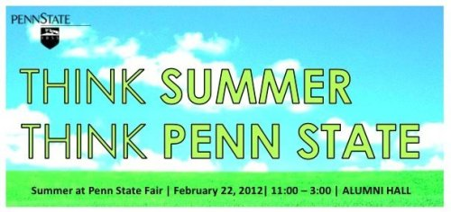 from Penn State University Park Summer Session facebook page