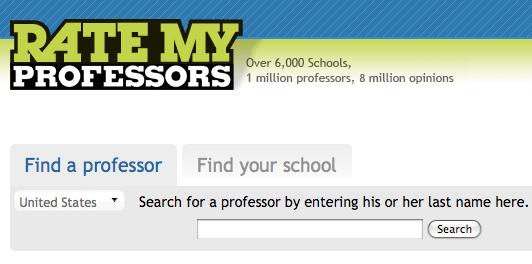 professors opinion on rate my professor vs srtes