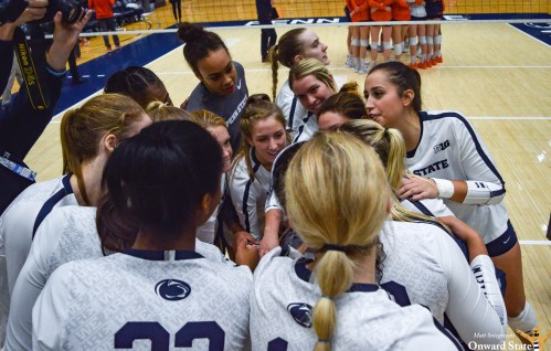 Penn State Women's Volleyball Sweeps Washington To Reach Elite Eight