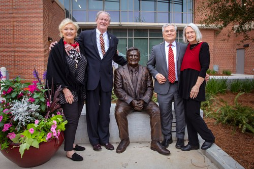 Florida State Unveils Statue Of Penn State President Eric Barron