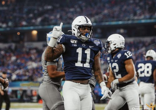 Micah Parsons Visits Penn State Football Practice, 'Gives' Scholarship To Chris Stoll