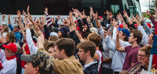 [Photo Story] State College Crowd Gathers For Donald Trump Jr. Rally