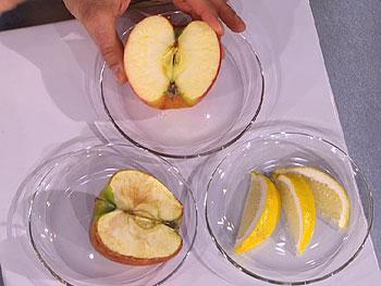Apples demonstrate the purpose of antioxidants.