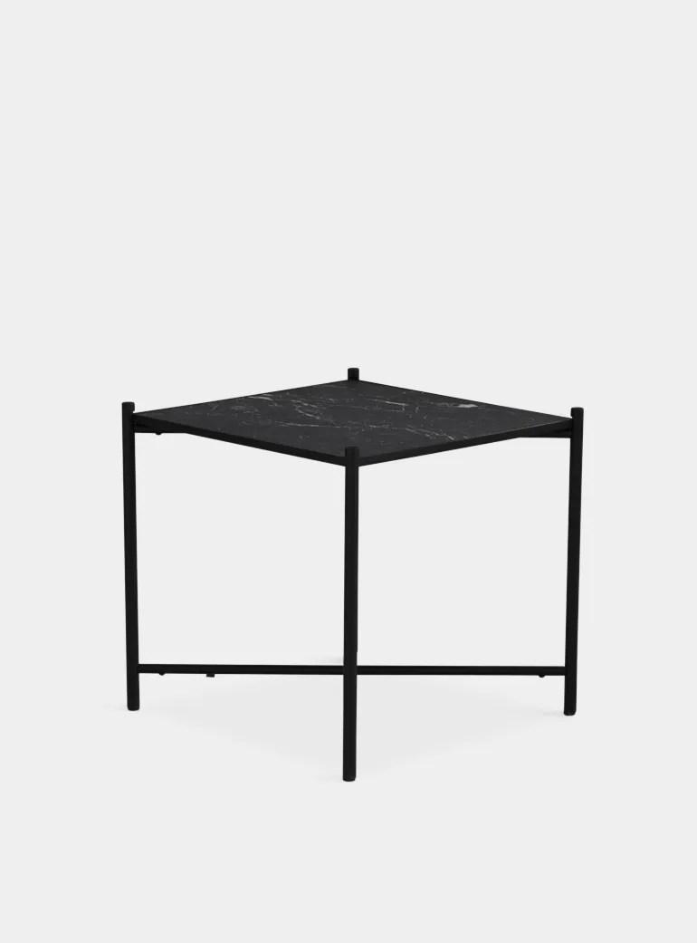 Black Black Marble Side Table
