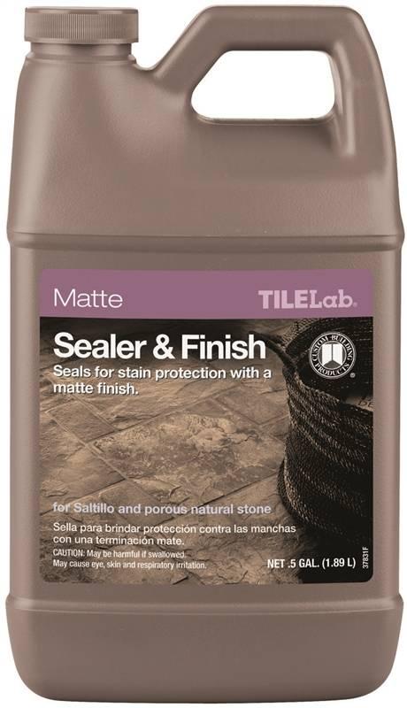 custom tilelab tlmtsshg sealer and finish opaque liquid 0 5 gal bottle vorg0397273 tlmtsshg