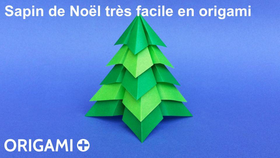 Sapin De Noel Tres Facile En Origami