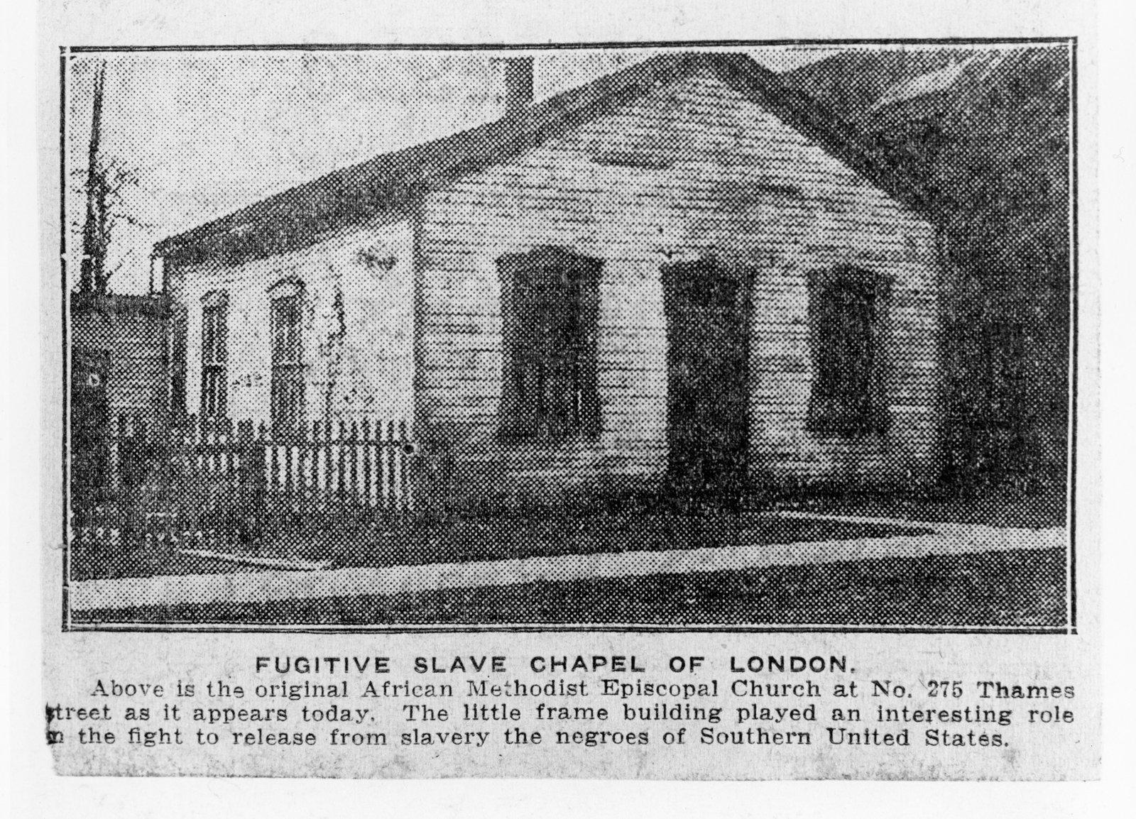Full Image View Fugitive Slave Chapel London Ontario