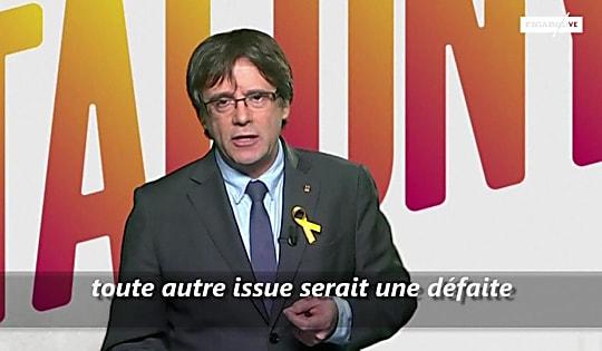 Elections en Catalgone : depuis Bruxelles, Puigdemont lance un dernier appel à voter pour sa liste