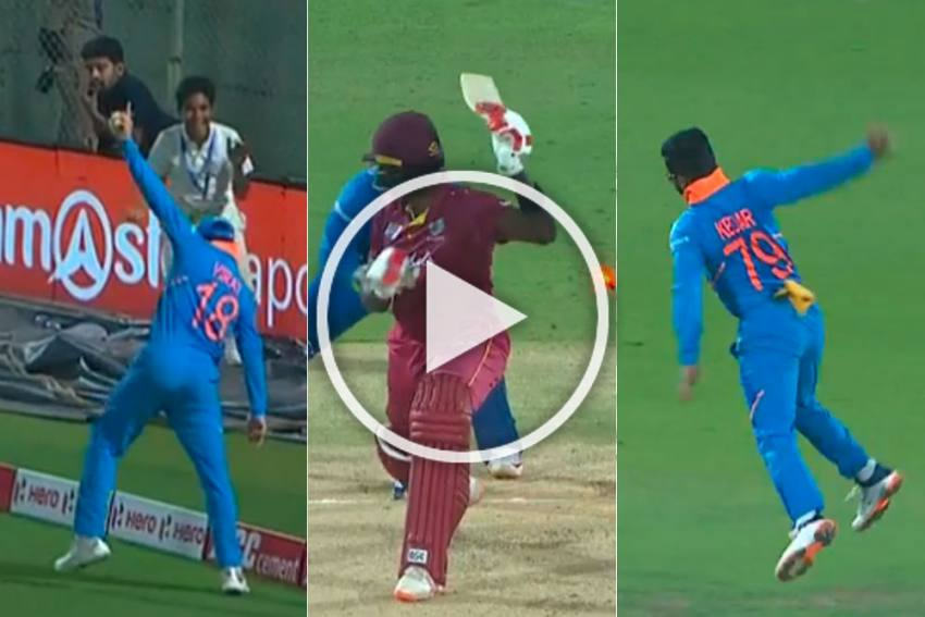 Ind Vs Wi 2nd Odi Mohammed Shami S Loss Becomes Kuldeep Yadav S Gain Watch Indian Cricket S Historic Moment Video