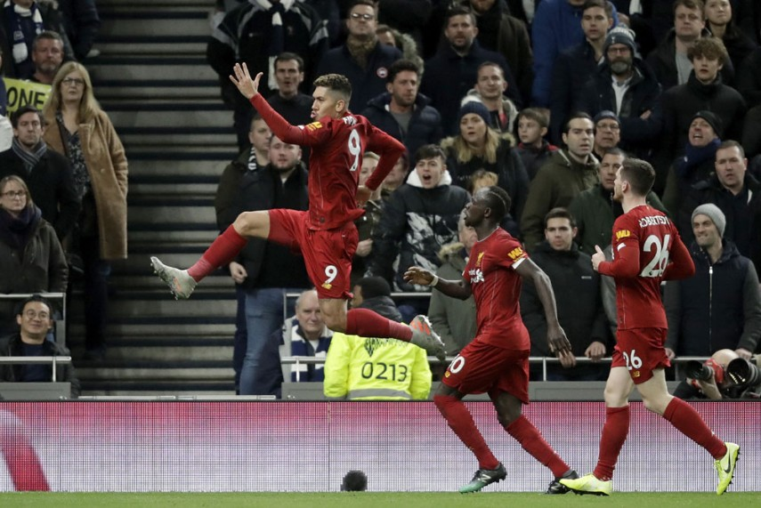 Liverpool Go 16 Points Clear After Firmino's Winner At Spurs