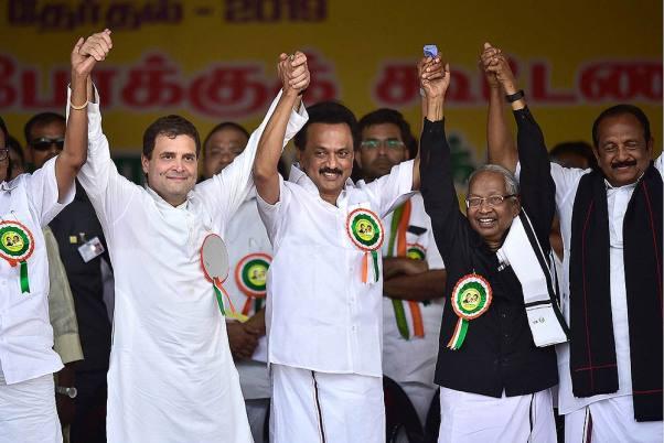 Outlook India Photo Gallery - DMK-Congress alliance