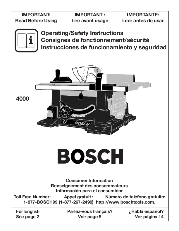 bosch 4000 table saw manual | Wallseat co