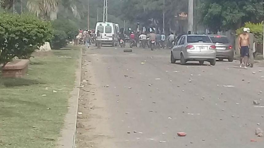 La Infantería cargó contra los manifestantes en una dura represión.