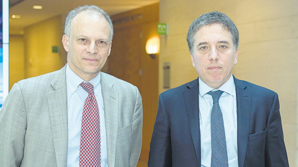 Nicolás Dujovne se reunió con Alejandro Werner, director del Hemisferio Occidental, y hoy se verá con Christine Lagarde.