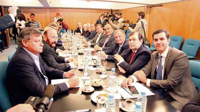 Los gobernadores del peronismo se reunieron el miércoles en el CFI antes de ir a la Casa Rosada.