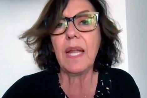 La senadora Silvia Sapag al responder a Martín Lousteau.