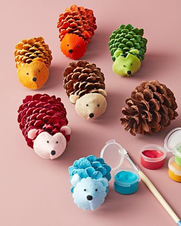 Fall Nature Crafts Cone Critters