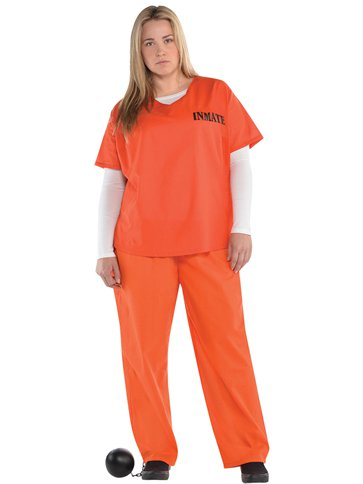 Orange Inmate Adult Costume Party Delights