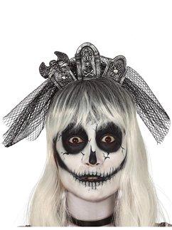 Tombstone Headband with Veil