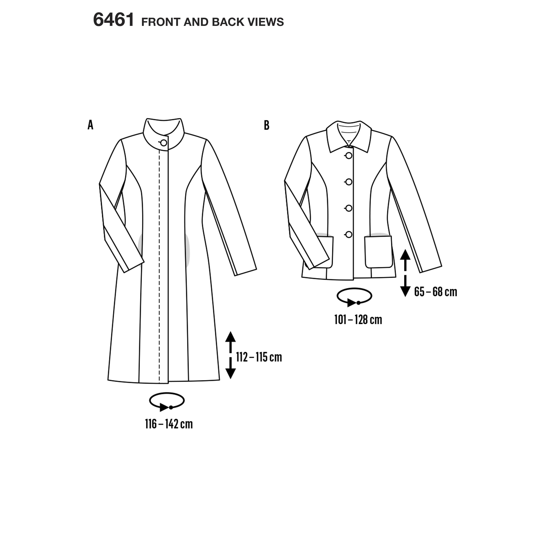 Burda Burda Style Pattern B Misses Coats