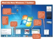 The new Windows Taskbar; click for full-size image.