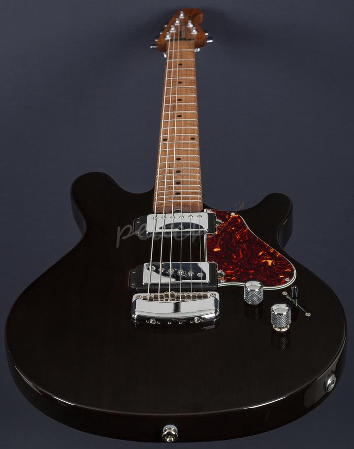 Ernie Ball Music Man Valentine Trans Black Peach Guitars