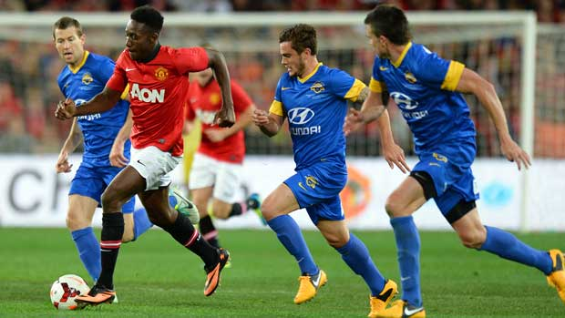 Danny Welbeck in action for Manchester United against the Hyundai A-League All Stars in 2013.