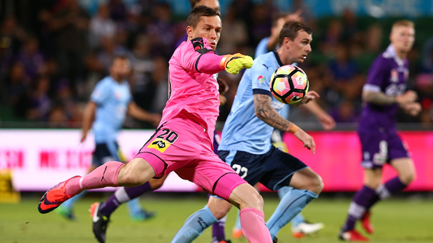 Danny Vukovic was outstanding in Sydney FC's 4-1 win over Perth Glory.