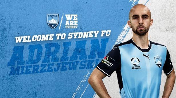 Hyundai A-League champions Sydney FC have signed Polish international winger Adrian Mierzejewski.