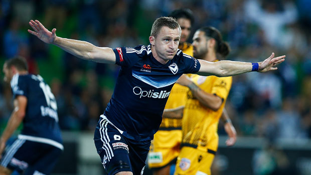 Besart Berisha produced an audacious piece of skill to set up Fahid Ben Khalfallah's goal in Melbourne Victory's win over Perth Glory.
