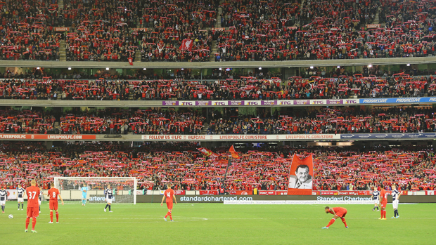 Liverpool took on Melbourne Victory in front of more than 95,000 fans at the MCG.