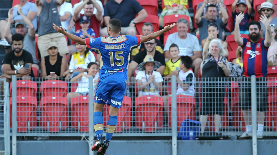 Andrew Nabbout did his best to get the home fans on their feet when he scored his third goal of the campaign.
