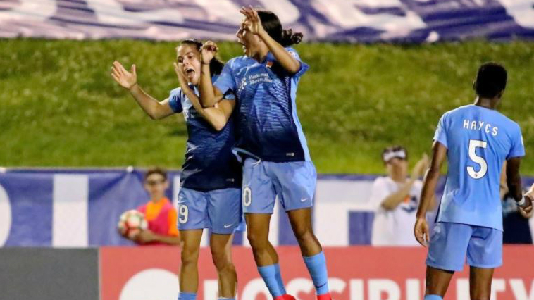 Sam Kerr created more history in the NWSL by scoring four goals in Sky Blues FC's win over Seattle.
