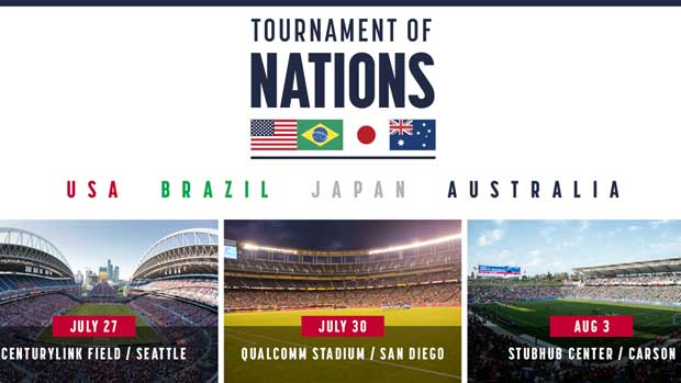 The Westfield Matildas will play world class opposition at a four-nation tournament in the USA.
