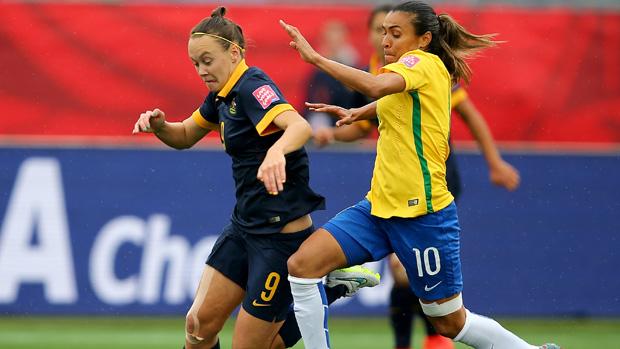 Australia were beaten 3-1 by Brazil in Fortaleza.