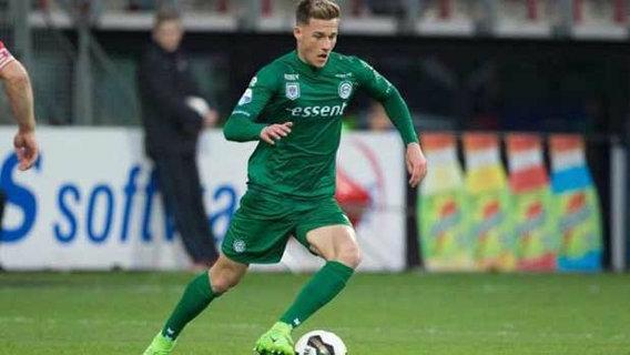 Young Aussie midfielder Ajdin Hrustic in action in the Eredivisie.