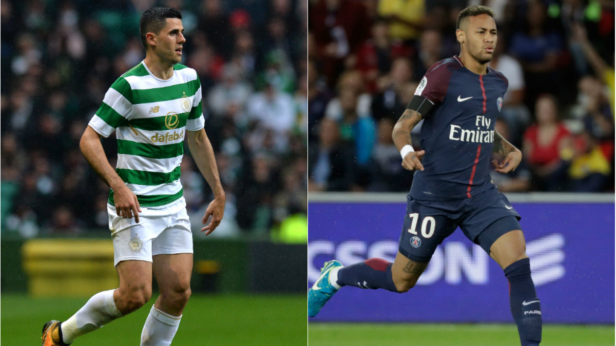 Tom Rogic will come up against Neymar in the UEFA Champions League.