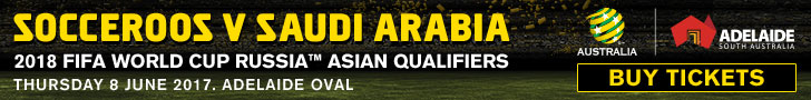 Socceroos v Saudi Arabia banner.