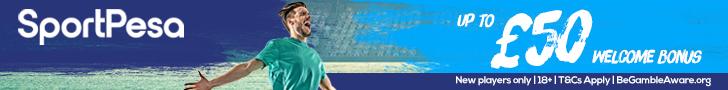 SportPesa Footer Update £50 free bet