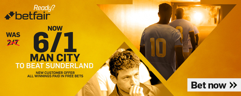 BETFAIR ENHANCED MAN CITY V SUNDERLAND