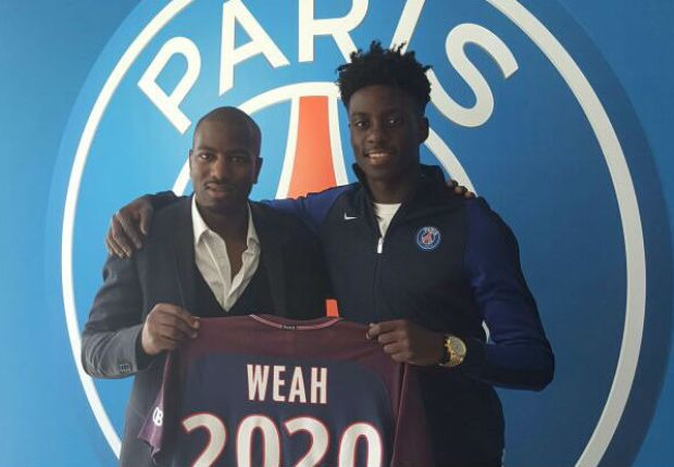 George Weah's son Timothy signs pro contract with PSG