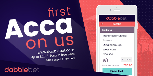 dabblebet First Acca on Us