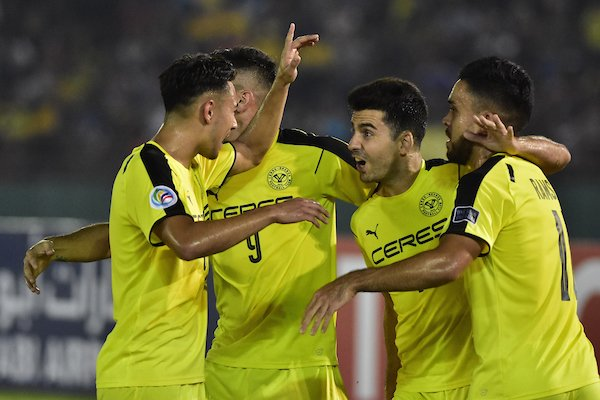 Ceres Negros celebrate win over Hanoi