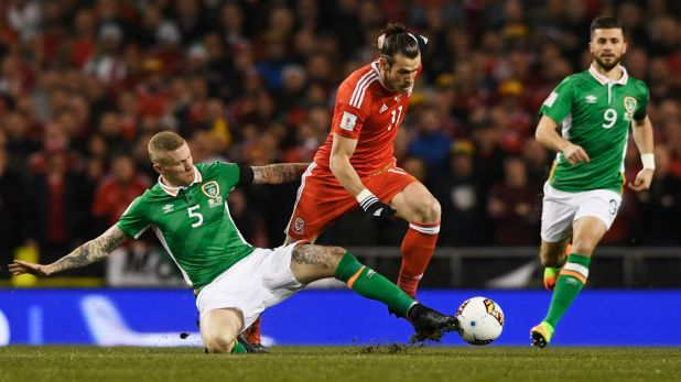 James McClean Gareth Bale Republic of Ireland Wales 28032017