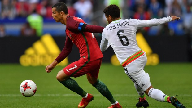 Cristiano Ronaldo Portugal Jonathan Dos Santos Mexico