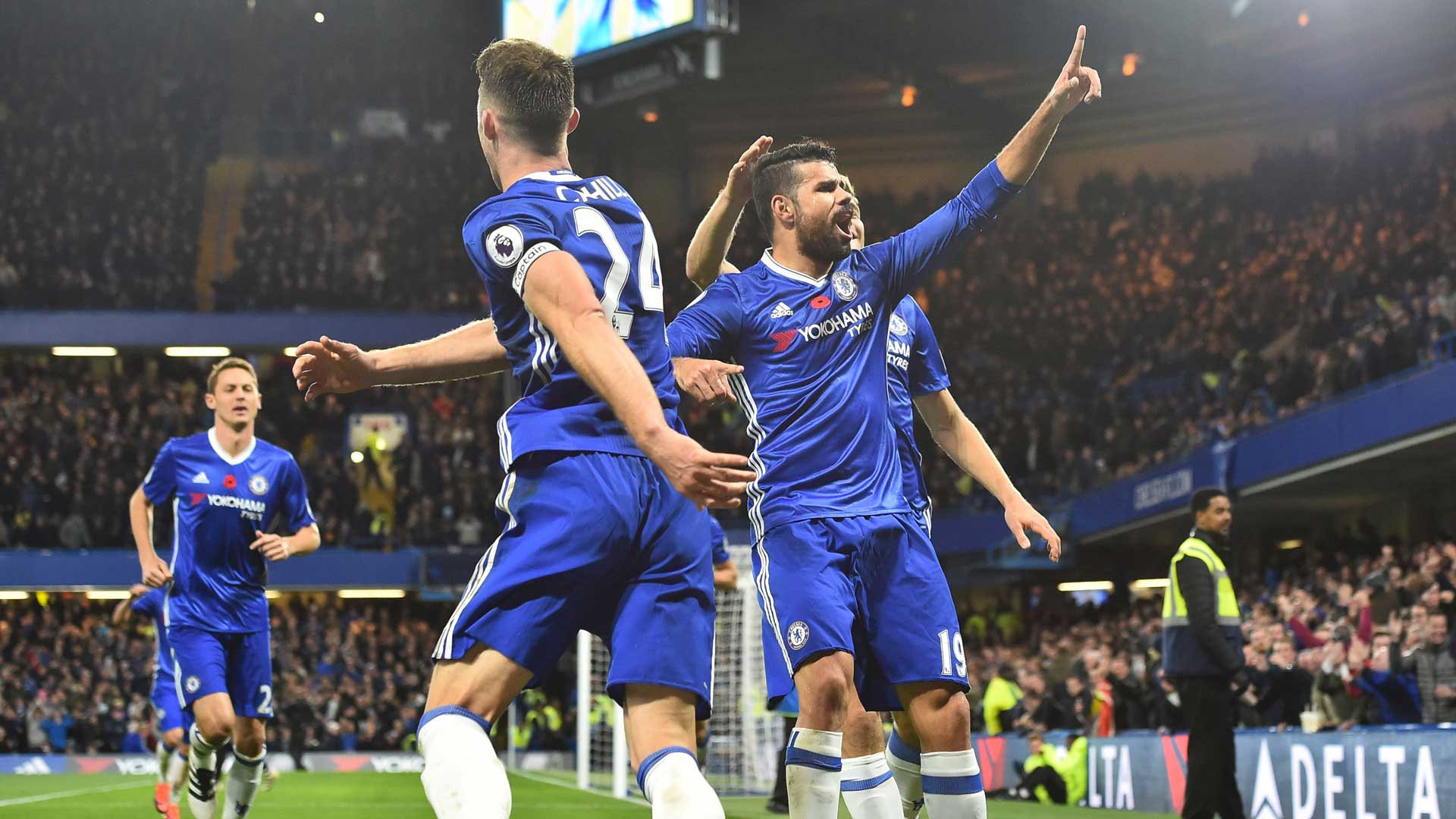 Image result for Chelsea 5-0 Everton: Eden Hazard master-class fires Blues top of the Premier League