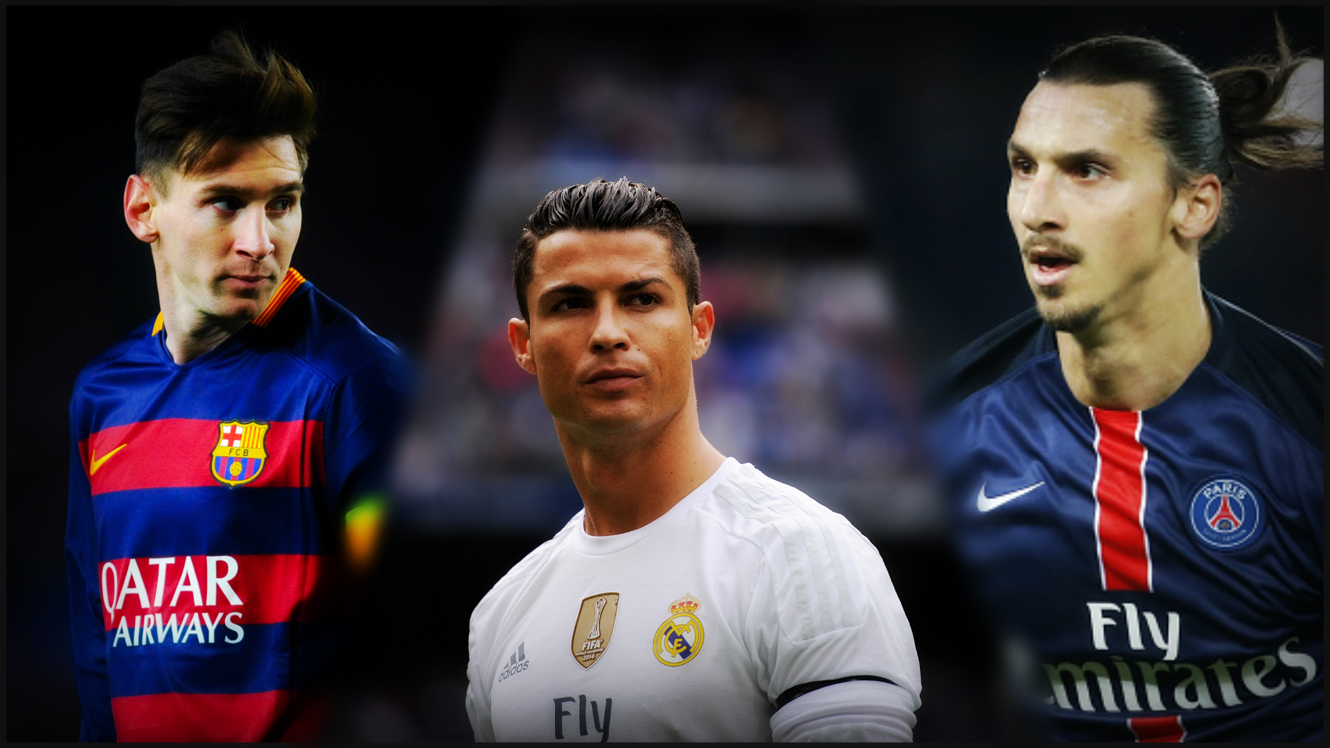 Image result for Zlatan Messi and Ronaldo